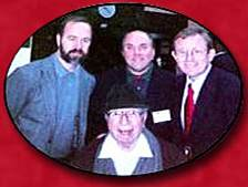 Mortimer Adler with some of the members of AAI - Patrick Carmack, Thomas Orr and Stephen Bertucci